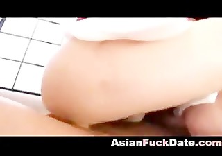 Asian mature gets filled with sperm