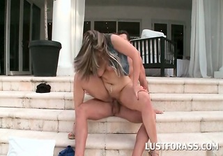 bitchy nympho in biggest ass riding shlong on the