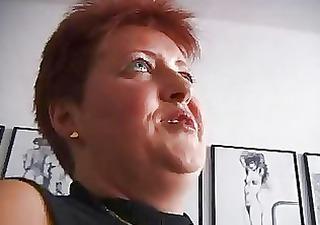 horny redhead older german