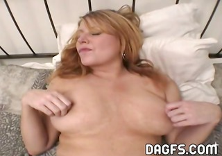 Redhead MILF with nice tits gets her ass banged