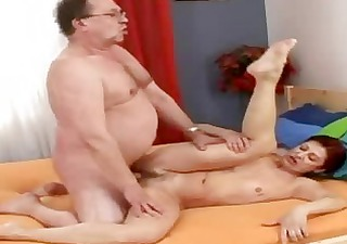 sexually excited old grandmommy acquires new jizz