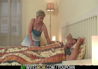 she fucks her son in law as he is sleeps