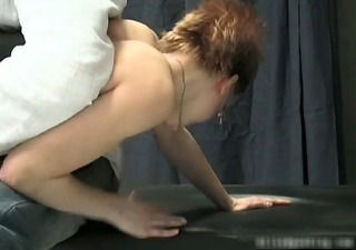nasty hot milf redhead chick acquires spanked