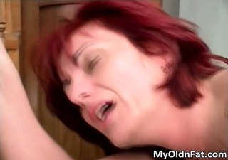dirty redhead milf blows jock