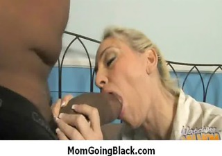 Interracial milf porn - Mommy rides black monster