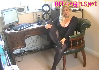 big beautiful woman secretary bitch in darksome